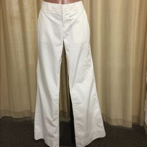 Lucky Brand white, wide leg, embroidered pant